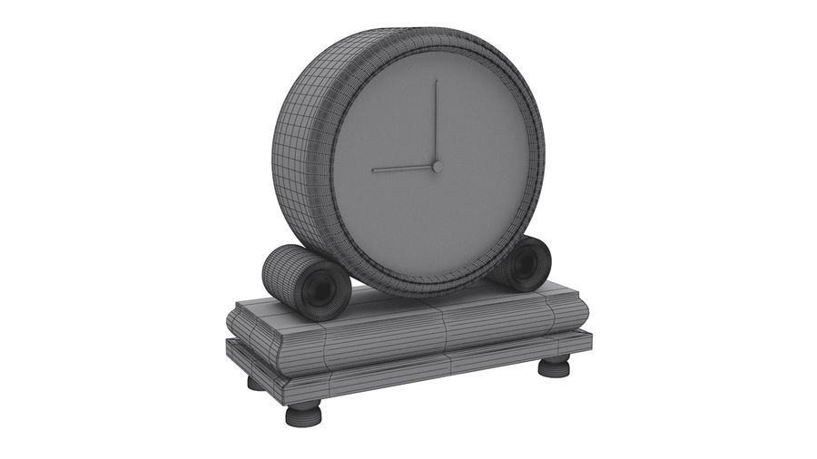 Reloj de chimenea royalty-free modelo 3d - Preview no. 9