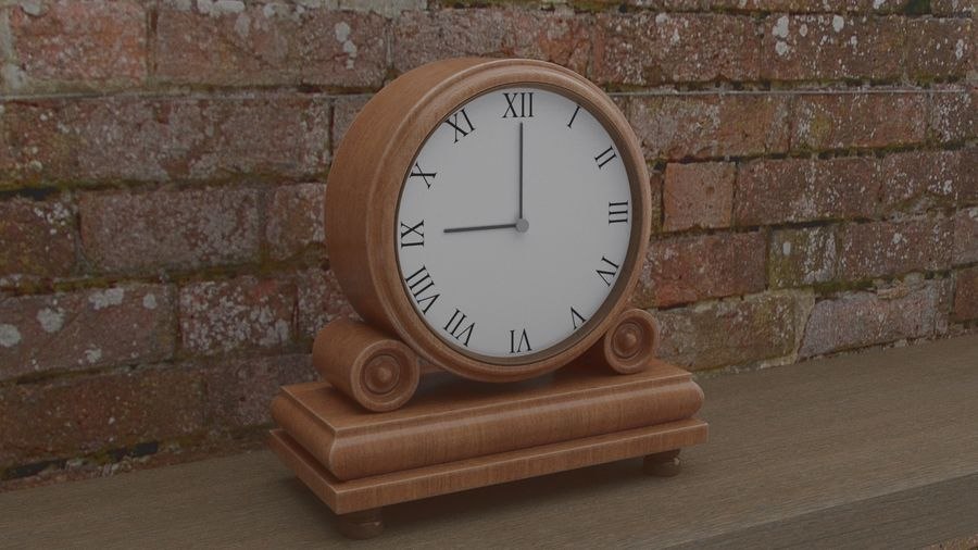 Reloj de chimenea royalty-free modelo 3d - Preview no. 8