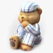 Ornamento do urso de peluche 3D 3d model