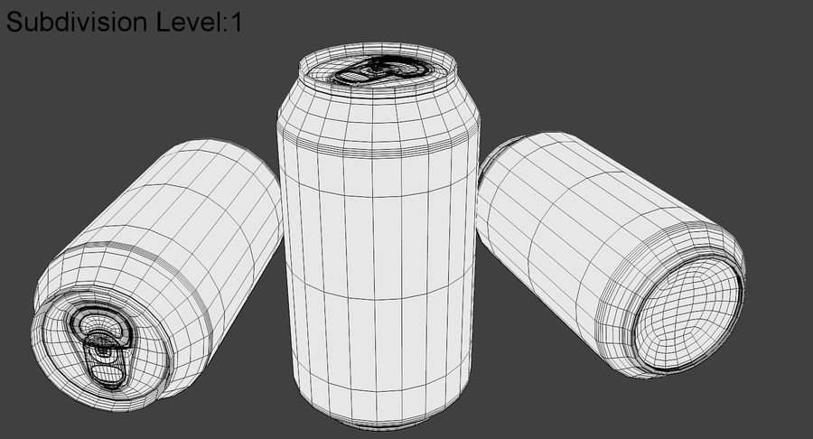 Soda Can royalty-free 3d model - Preview no. 9