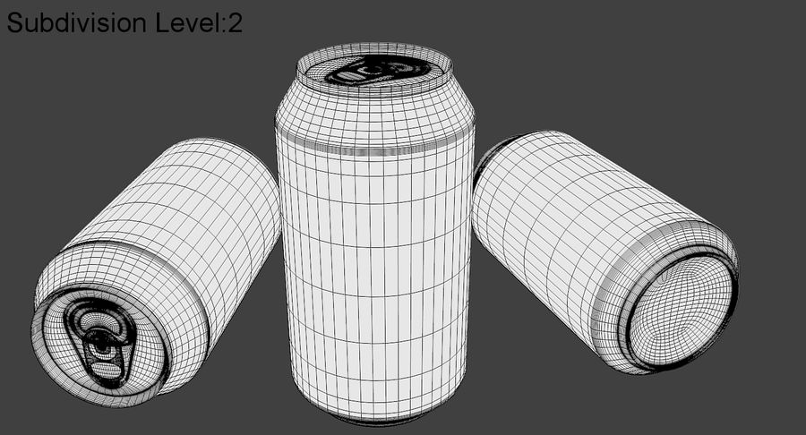 Soda Can royalty-free 3d model - Preview no. 10