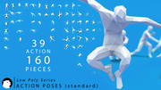 Pone persone poli / azioni umane (standard) 3d model
