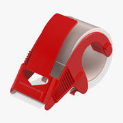 Packing Tape Dispenser with Clear Tape 3d model
