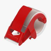 Dispenser per nastro da imballo con nastro trasparente 3d model
