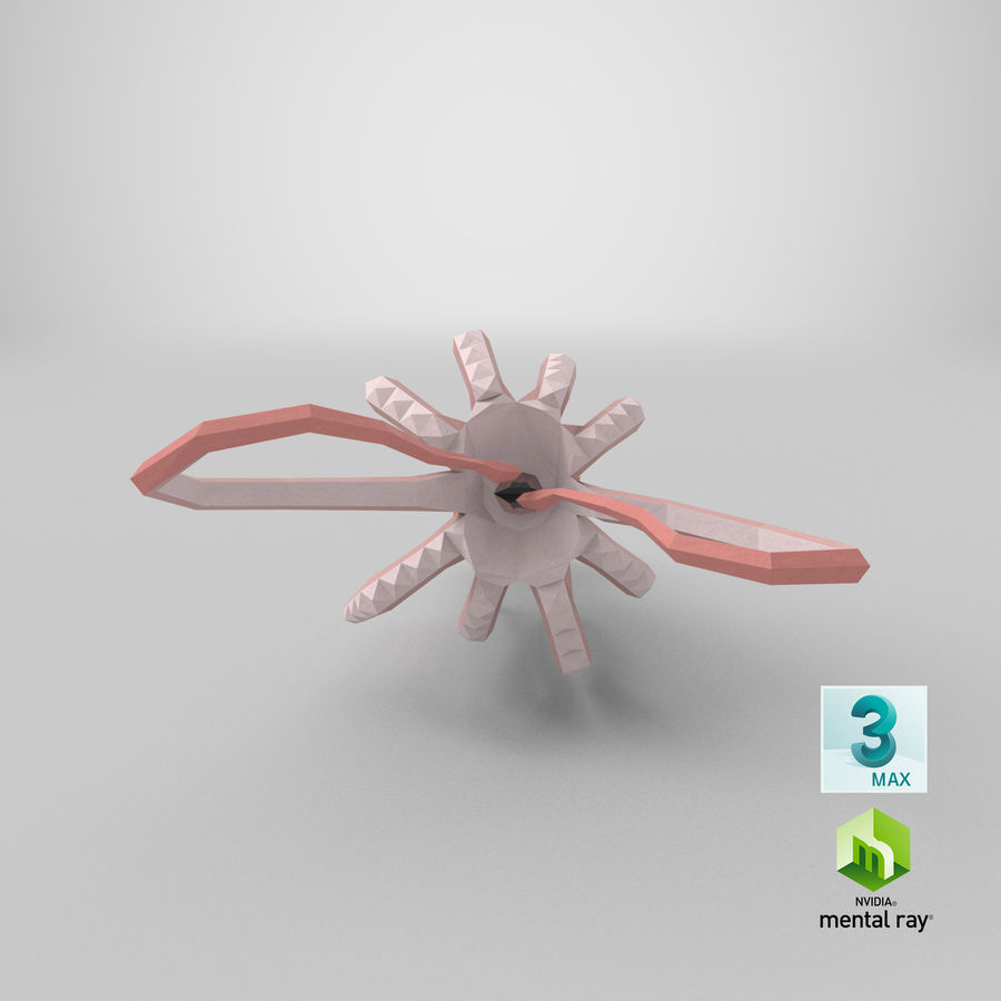 Squid Eating royalty-free 3d model - Preview no. 1