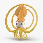 Squid TurboSquid Logo 3d model