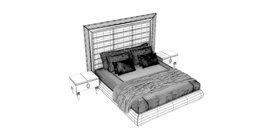 Capital Kollektion Kole Plus Bed & Korp Nachttische royalty-free 3d model - Preview no. 5