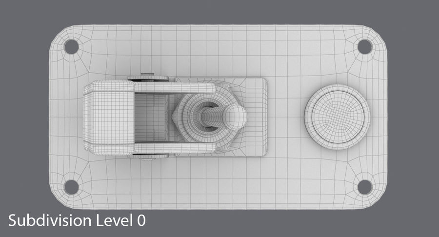 Switch 10 Damaged royalty-free 3d model - Preview no. 14