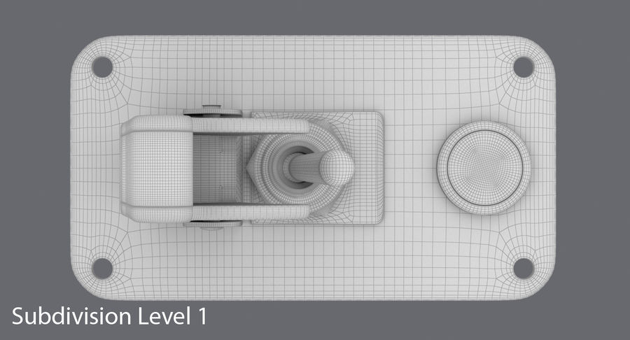 Switch 10 Damaged royalty-free 3d model - Preview no. 17