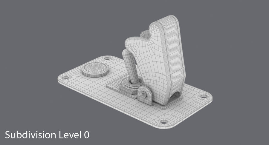 Switch 10 Damaged royalty-free 3d model - Preview no. 15