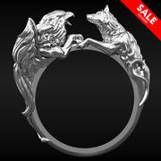 Bague Gryphon Wolf 3d model