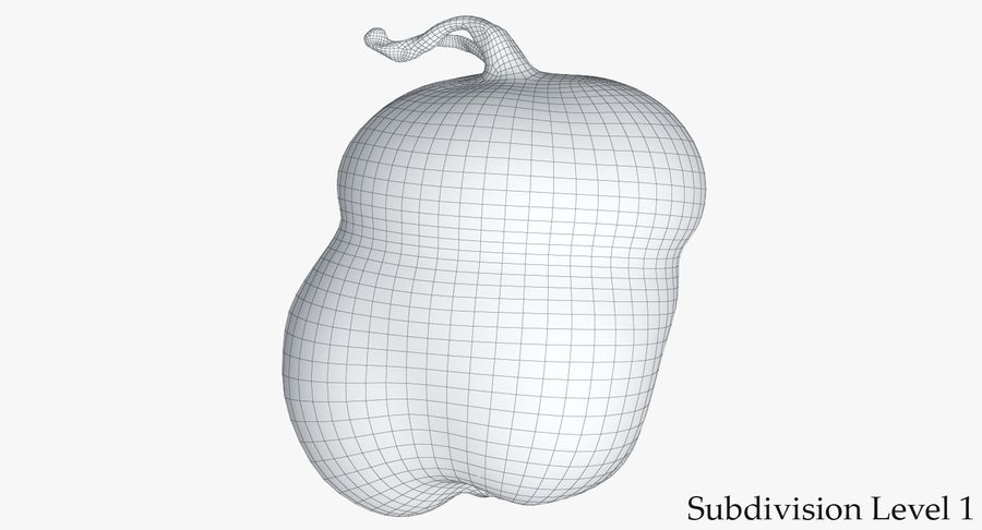 Pumpkin Small royalty-free 3d model - Preview no. 15