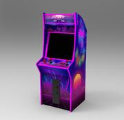 Neon arcade machine 3d model