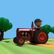 tractor farm 3d model