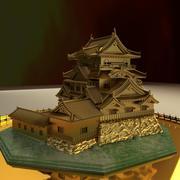 중국 황금 집 3d model