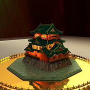중국 집 3d model
