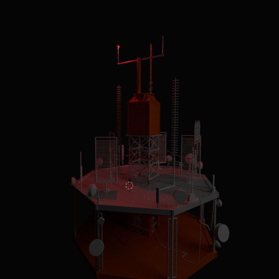 Torre de rádio royalty-free 3d model - Preview no. 8