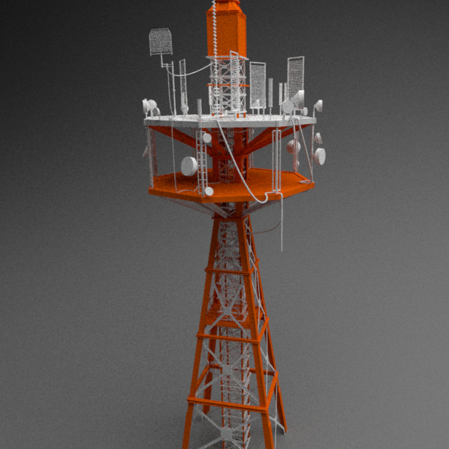 Torre de rádio royalty-free 3d model - Preview no. 2
