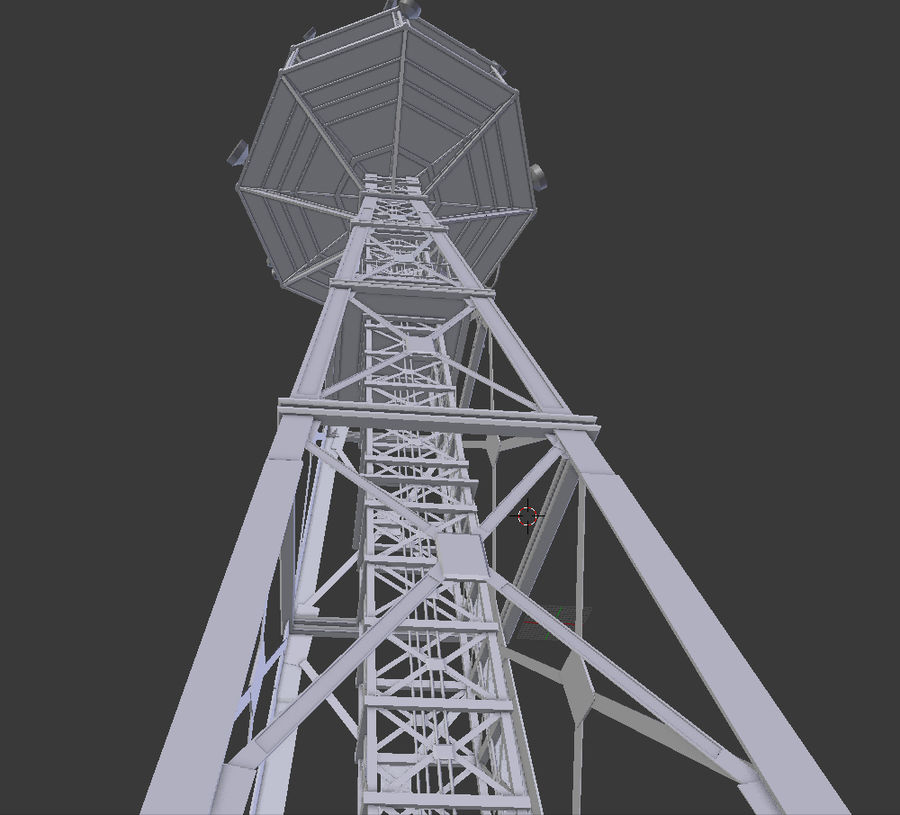 Torre de rádio royalty-free 3d model - Preview no. 6