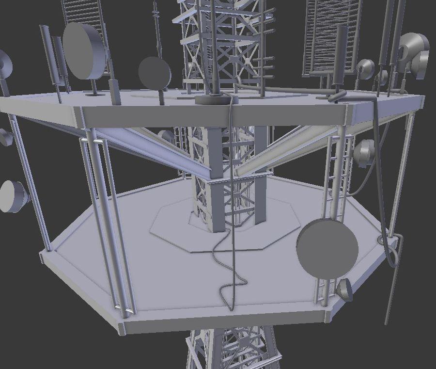 Torre de rádio royalty-free 3d model - Preview no. 4