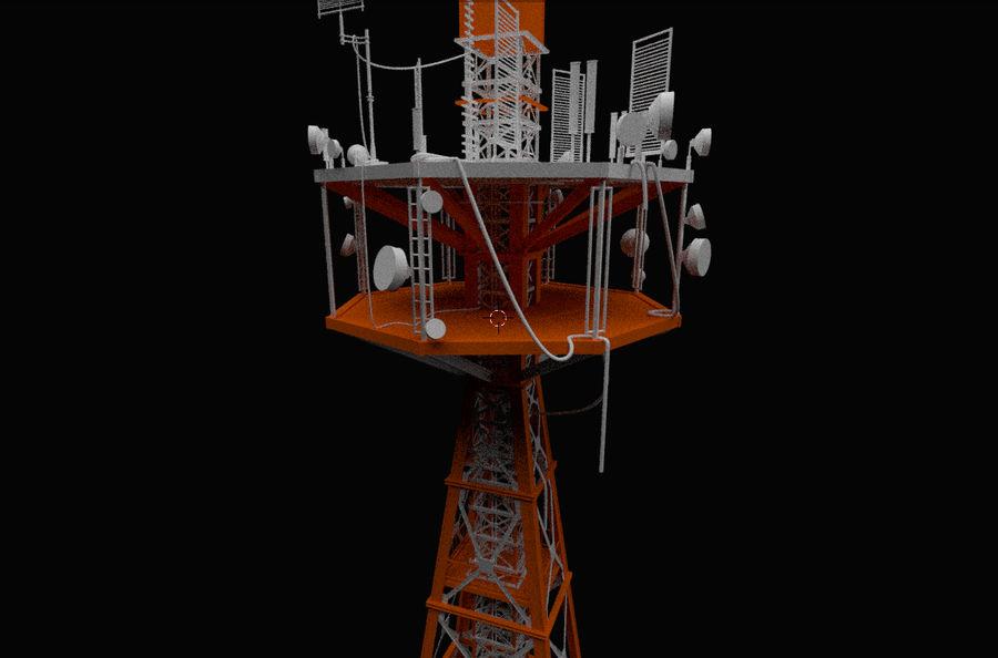 Torre de rádio royalty-free 3d model - Preview no. 10