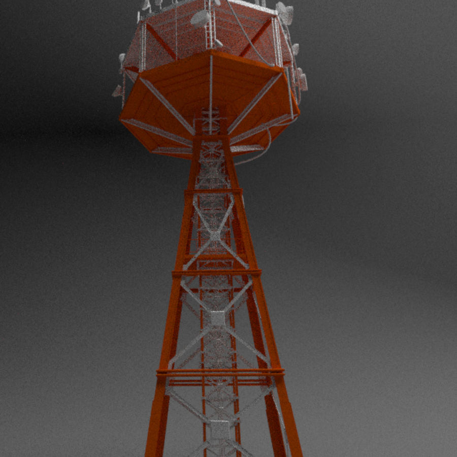 Torre de rádio royalty-free 3d model - Preview no. 3