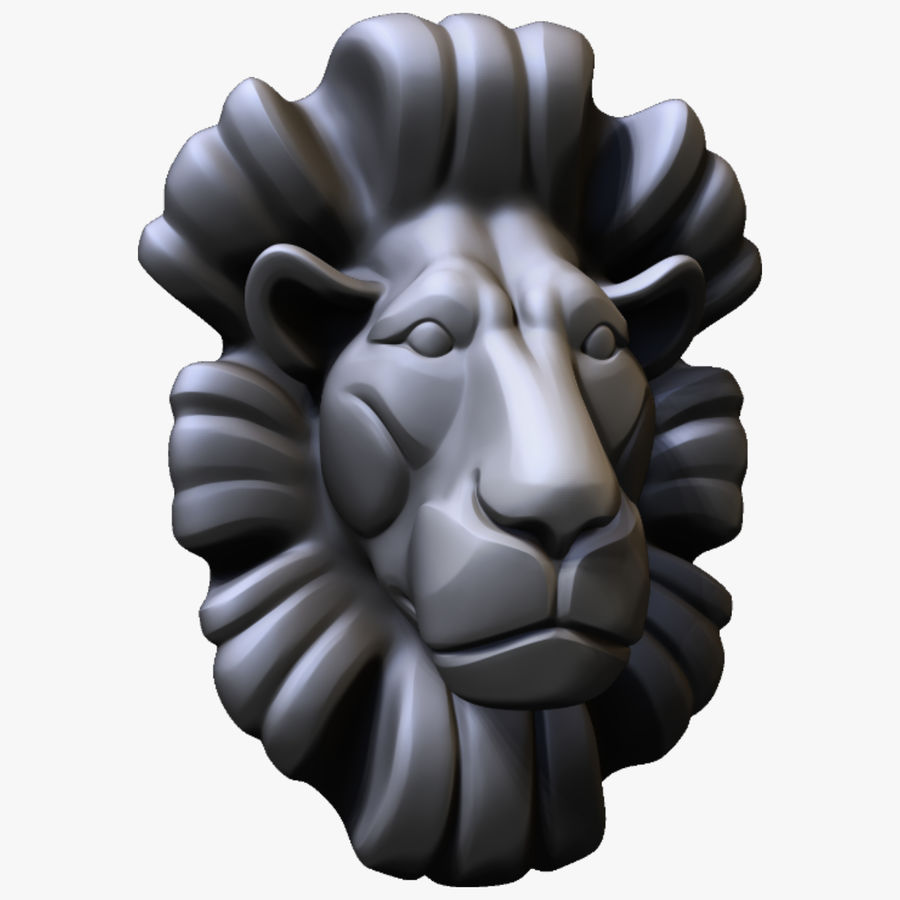 Lion Bust royalty-free 3d model - Preview no. 1