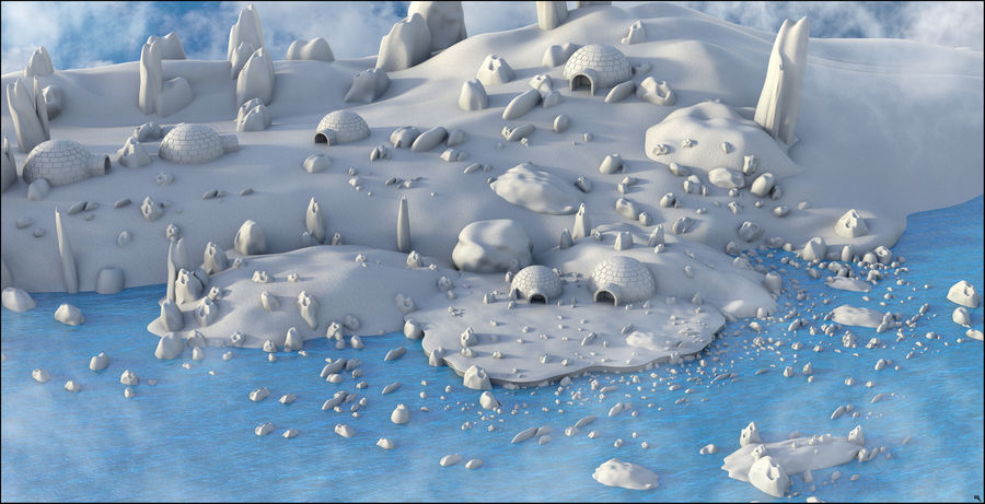 Artic Environment Landscape royalty-free 3d model - Preview no. 2