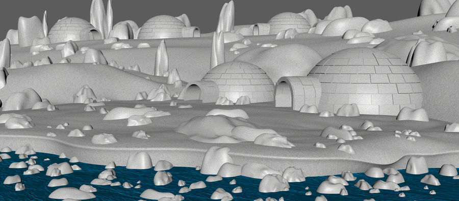 Artic Environment Landscape royalty-free 3d model - Preview no. 8
