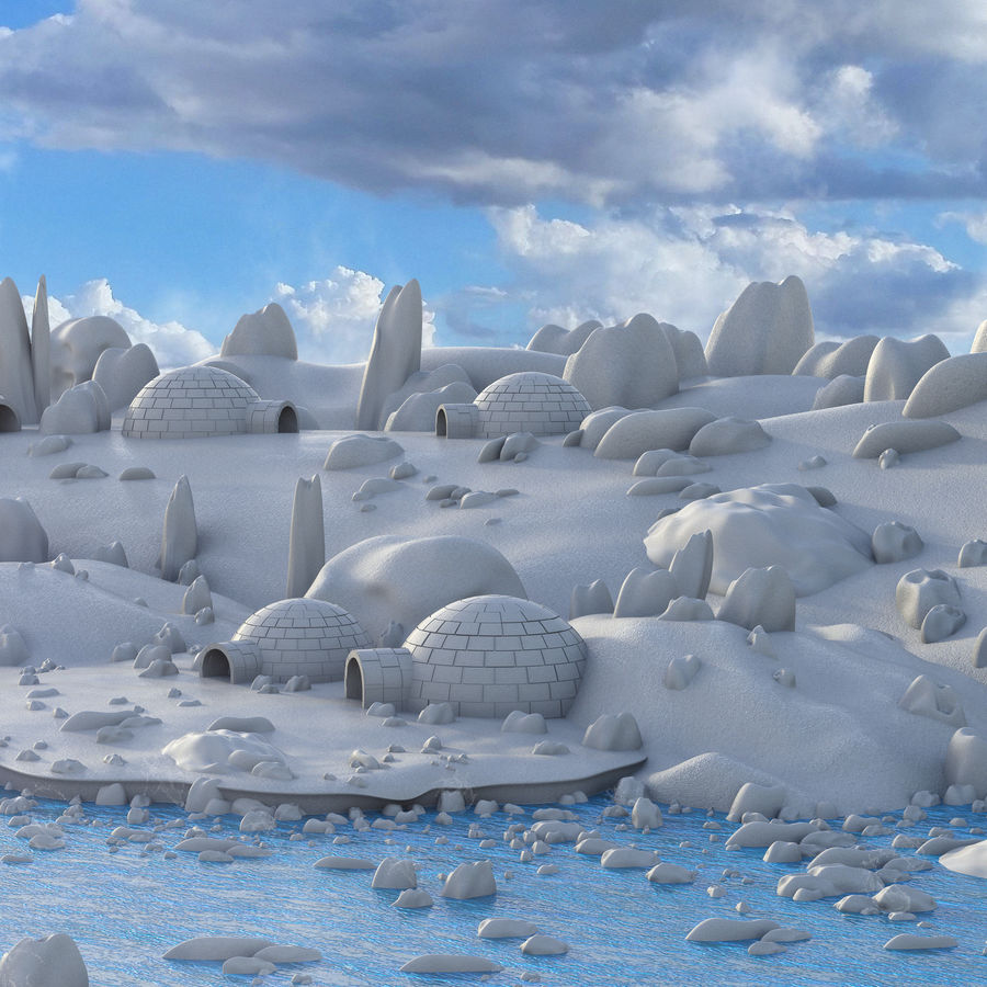 Artic Environment Landscape royalty-free 3d model - Preview no. 6