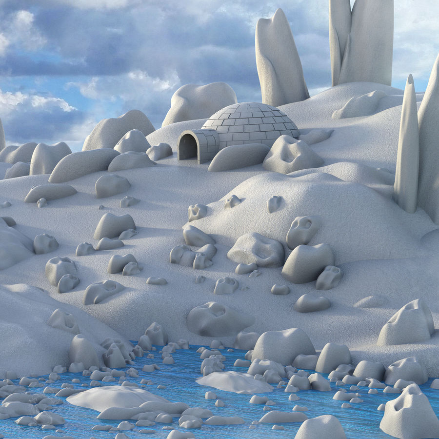Artic Environment Landscape royalty-free 3d model - Preview no. 4