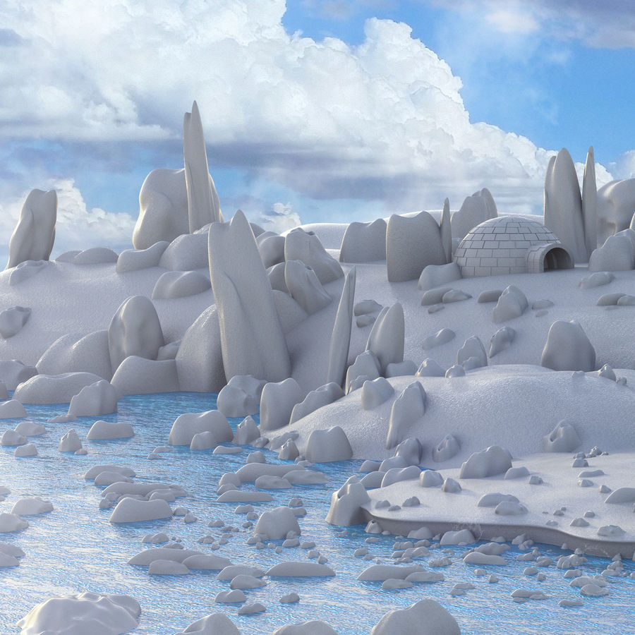 Artic Environment Landscape royalty-free 3d model - Preview no. 3