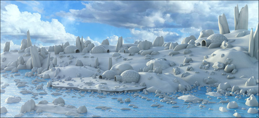 Artic Environment Landscape royalty-free 3d model - Preview no. 1