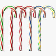 Candy Cane (5 colori) 3d model