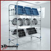 Sterile Processing Wash Cart 3d model