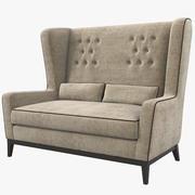 Asnaghi Mitte soffa 3d model