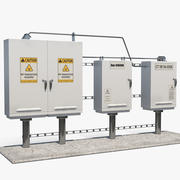 Outdoor Electric Control Boxes 3d model