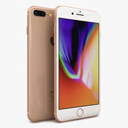 Apple iPhone 8 Plus goud 3d model