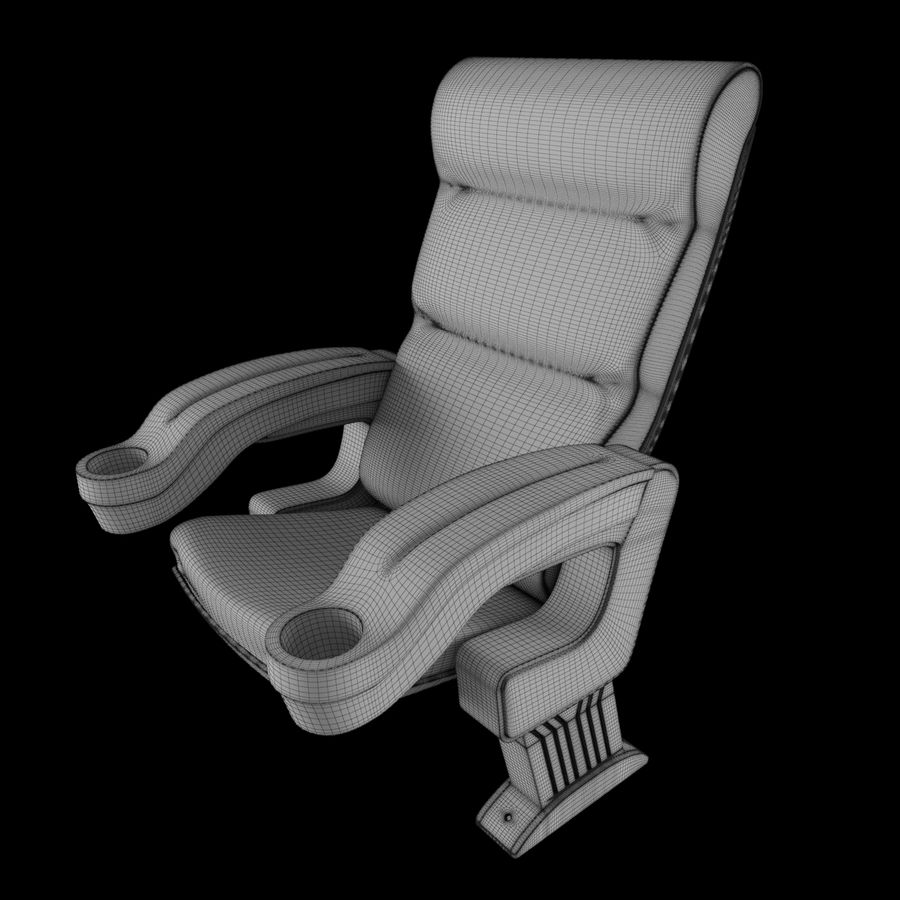 Cinema Chair royalty-free 3d model - Preview no. 9