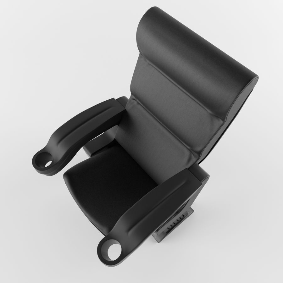 Cinema Chair royalty-free 3d model - Preview no. 6