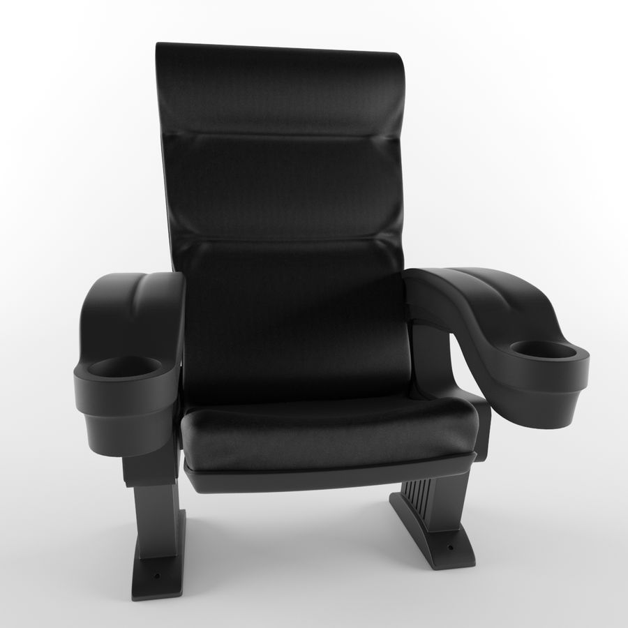 Cinema Chair royalty-free 3d model - Preview no. 3