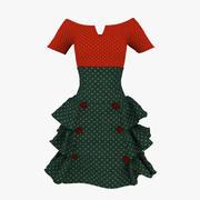 Skirt and Bouse 3d model