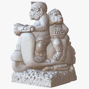 Sculpture Bali Monkeys On The Bike 1M Raw Scan 3d model