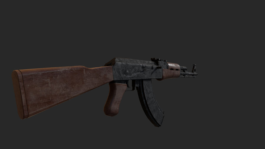AK-47 royalty-free 3d model - Preview no. 3
