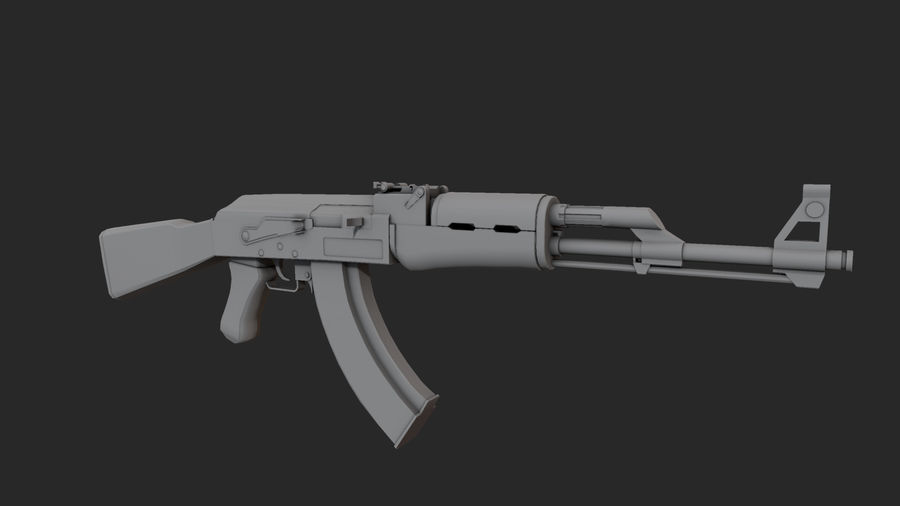 AK-47 royalty-free 3d model - Preview no. 4