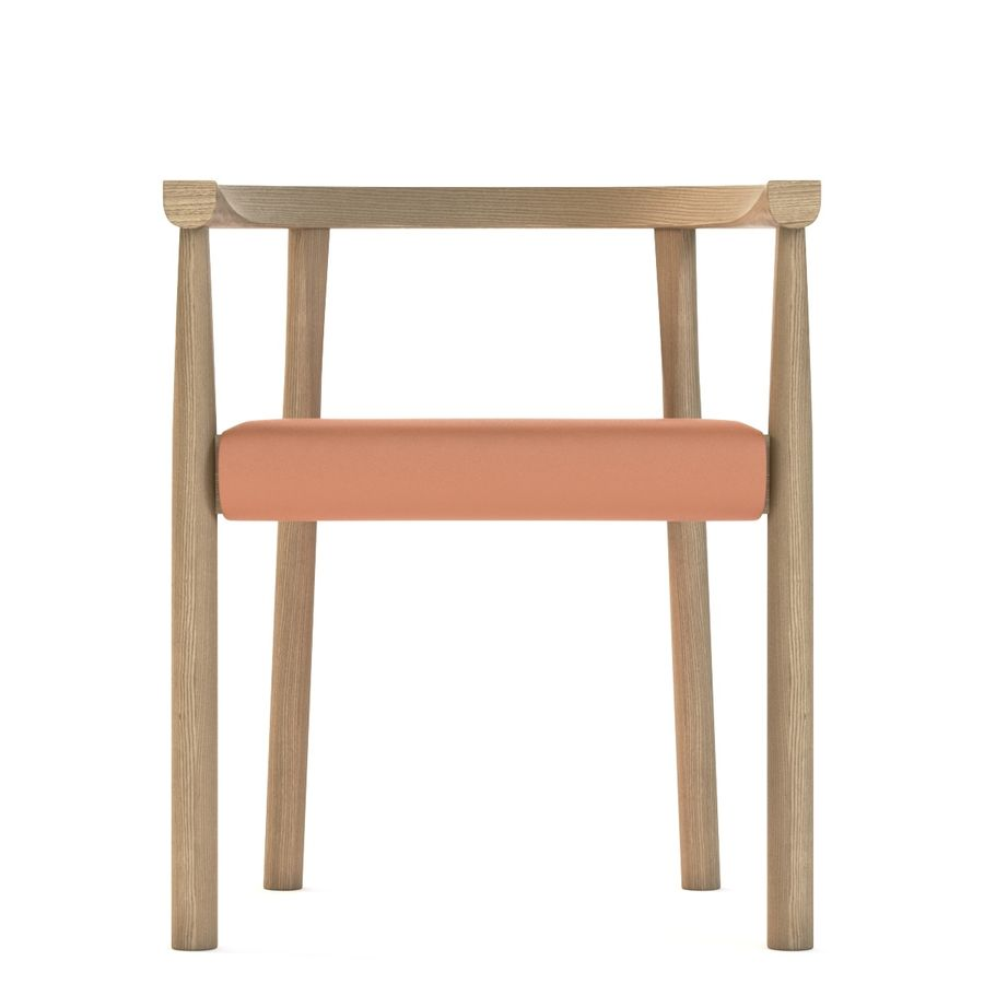 Photorealistic Bensen Tokyo Wooden Chair royalty-free 3d model - Preview no. 9