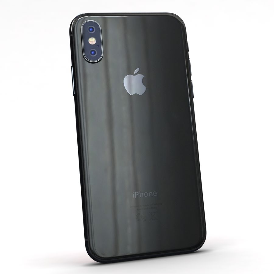 Apple iPhone X Space Gray royalty-free 3d model - Preview no. 6