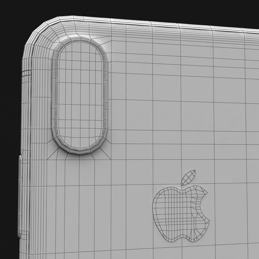 Apple iPhone X Space Gray royalty-free 3d model - Preview no. 37