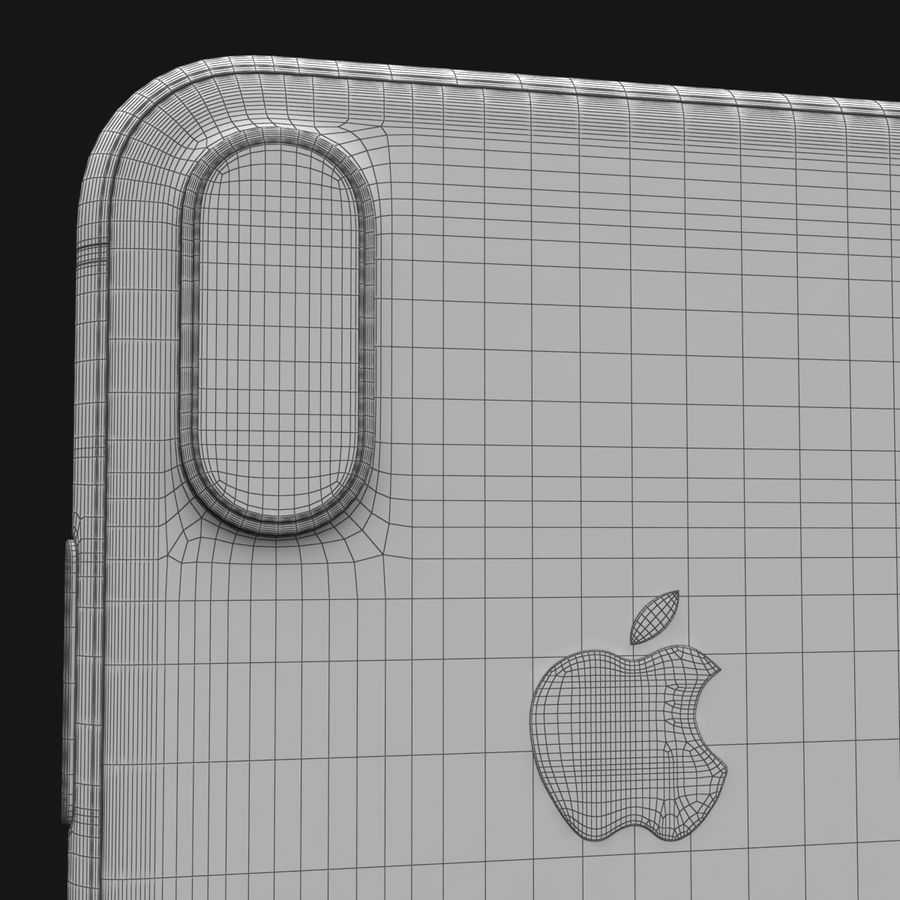 Apple iPhone X Space Gray royalty-free 3d model - Preview no. 36