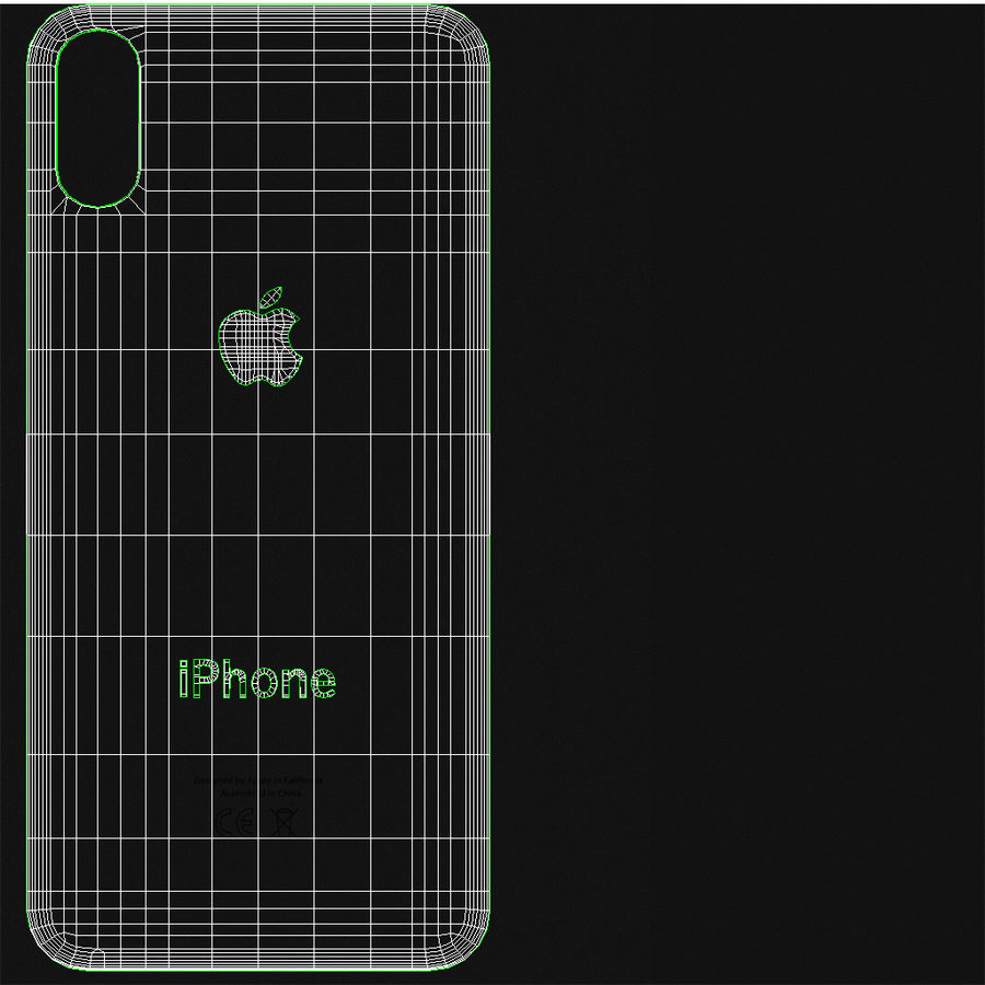 Apple iPhone X Space Gray royalty-free 3d model - Preview no. 26